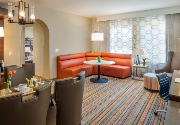 Corner King Suite Living Area