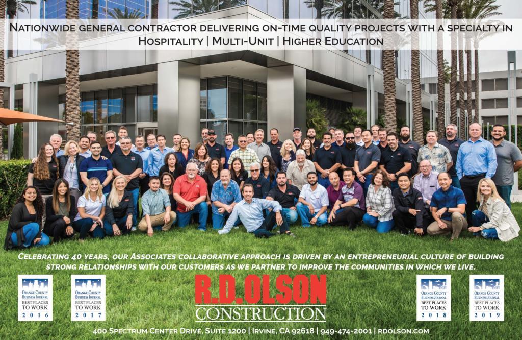 R D  Olson Construction Wins Orange County Business