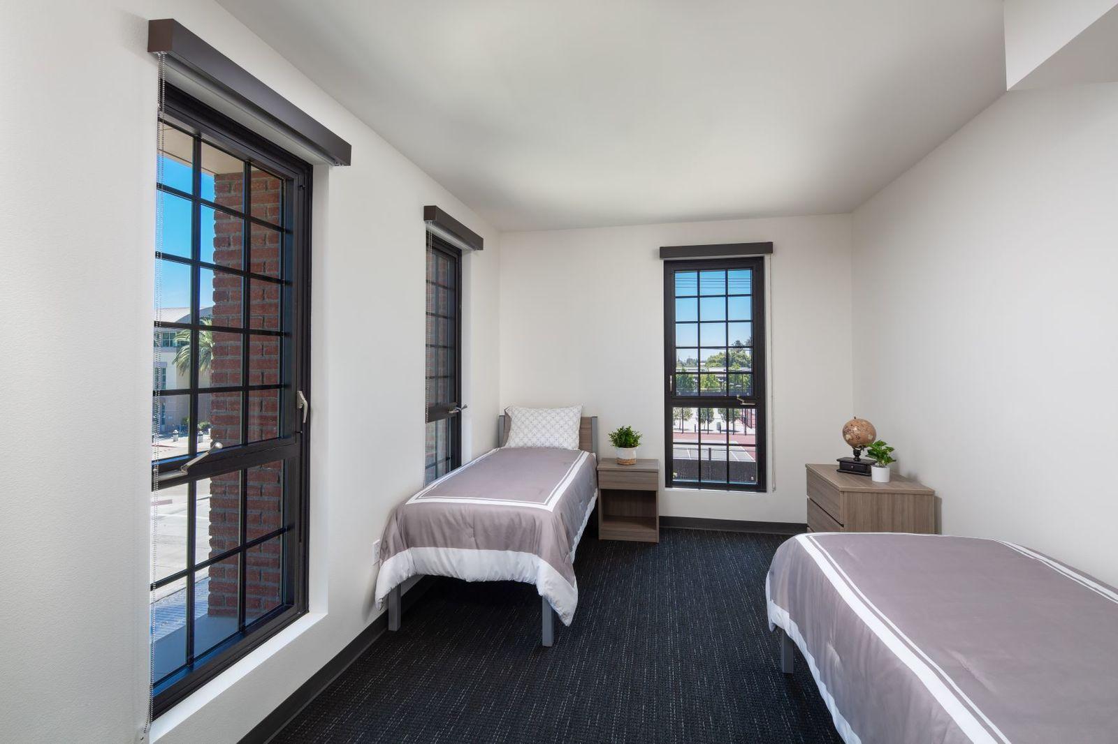The K Residence Hall at Chapman University RD Olson Construction - bedroom