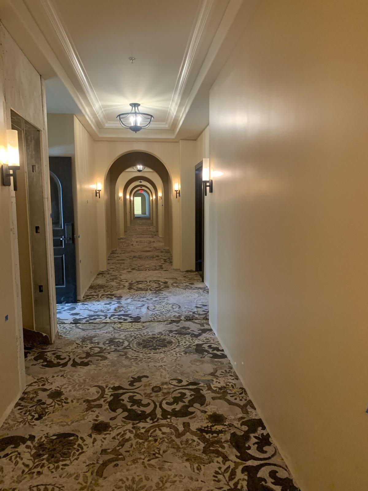 3.27.20 1st Floor Corridor Carpet